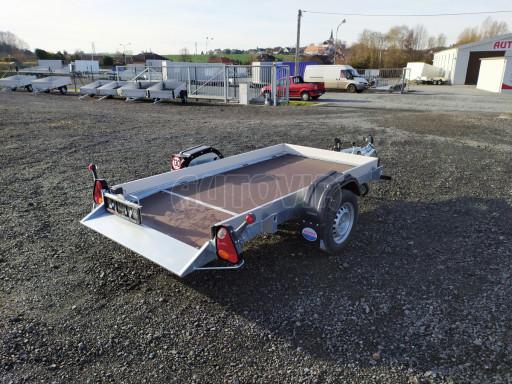 Jednoosý nebrzděný hydraulicky sklopný přívěs HS 750kg N1 2,46x1,26/0,10 ruč* č.9