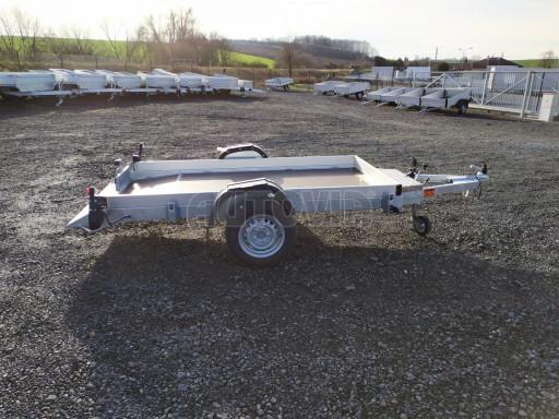 Jednoosý nebrzděný hydraulicky sklopný přívěs HS 750kg N1 2,46x1,26/0,10 ruč* č.10