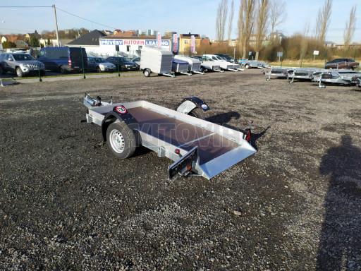 Jednoosý nebrzděný hydraulicky sklopný přívěs HS 750kg N1 2,46x1,26/0,10 ruč* č.3