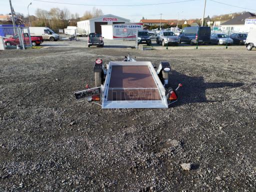 Jednoosý nebrzděný hydraulicky sklopný přívěs HS 750kg N1 2,46x1,26/0,10 ruč* č.14