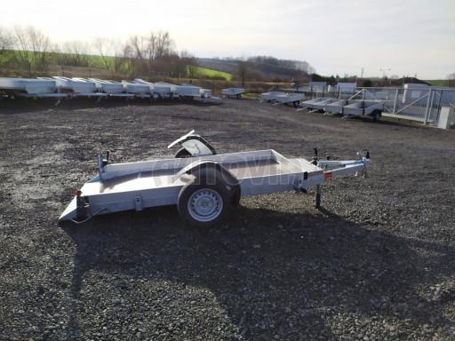 Jednoosý nebrzděný hydraulicky sklopný přívěs HS 750kg N1 2,46x1,26/0,10 ruč* č.16