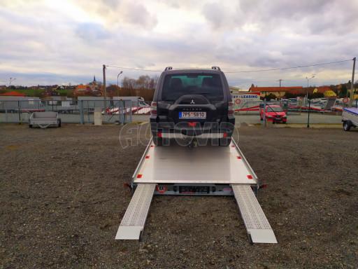 Plato pro převoz velkých vozidel JMB 3,5T B3 5,50x2,09 ALU kola el.naviják* č.25
