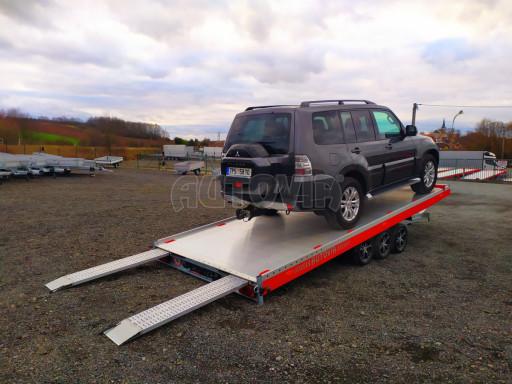 Plato pro převoz velkých vozidel JMB 3,5T B3 5,50x2,09 ALU kola el.naviják* č.26