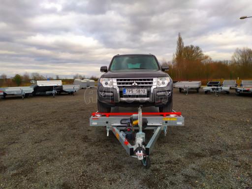 Plato pro převoz velkých vozidel JMB 3,5T B3 5,50x2,09 ALU kola el.naviják* č.29