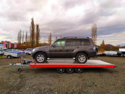 Plato pro převoz velkých vozidel JMB 3,5T B3 5,50x2,09 ALU kola el.naviják* č.31