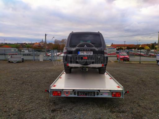 Plato pro převoz velkých vozidel JMB 3,5T B3 5,50x2,09 ALU kola el.naviják* č.33