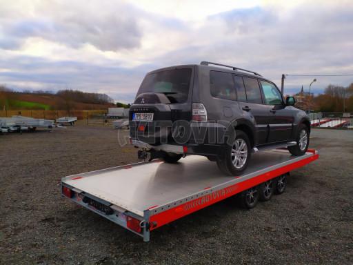 Plato pro převoz velkých vozidel JMB 3,5T B3 5,50x2,09 ALU kola el.naviják* č.34
