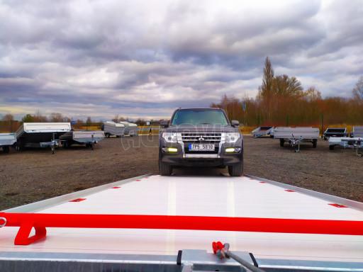 Plato pro převoz velkých vozidel JMB 3,5T B3 5,50x2,09 ALU kola el.naviják* č.38