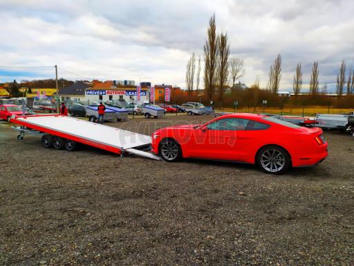 Plato pro převoz velkých vozidel JMB 3,5T B3 5,50x2,09 ALU kola el.naviják* č.44