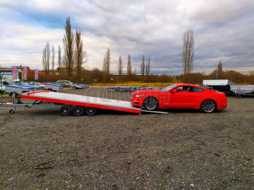Plato pro převoz velkých vozidel JMB 3,5T B3 5,50x2,09 ALU kola el.naviják* č.52