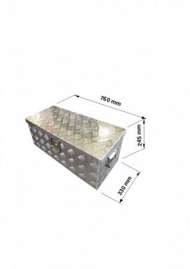 Bedna na nářadí 60 L hliníková, 760mm x 245mm x 330mm č.6
