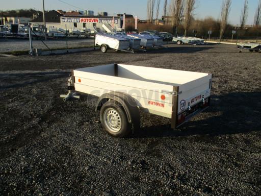 Levný přívěsný vozík s hliníkovými bočnicemi ZV 3 ALU 2,06x1,10/0,35** č.5