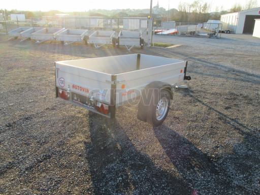 Levný přívěsný vozík s hliníkovými bočnicemi ZV 3 ALU 2,06x1,10/0,35** č.7