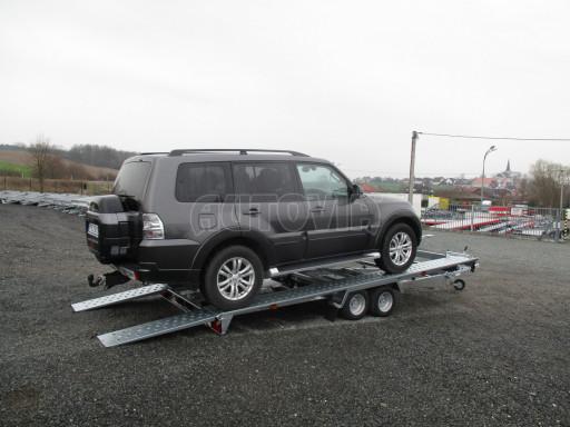 Sklápěcí přívěs pro přepravu aut KAR 47 3,0T 4,70 x 2,015 č.1