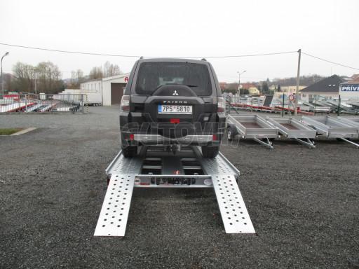 Sklápěcí přívěs pro přepravu aut KAR 47 3,0T 4,70 x 2,015 č.17