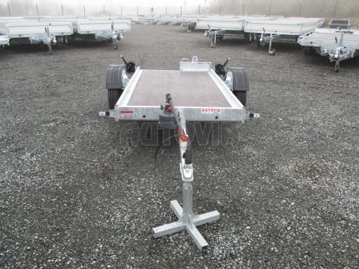 Jednoosý nebrzděný hydraulicky sklopný přívěs HS 750kg N1 2,55x1,26/0,10 ruč ECO č.9