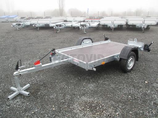 Jednoosý nebrzděný hydraulicky sklopný přívěs HS 750kg N1 2,55x1,26/0,10 ruč ECO č.10