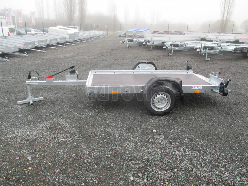 Jednoosý nebrzděný hydraulicky sklopný přívěs HS 750kg N1 2,55x1,26/0,10 ruč ECO č.11