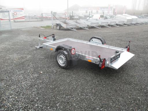 Jednoosý nebrzděný hydraulicky sklopný přívěs HS 750kg N1 2,55x1,26/0,10 ruč ECO č.12