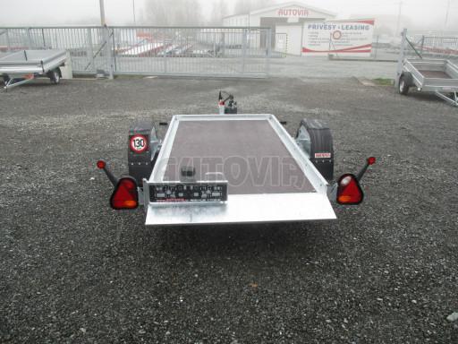 Jednoosý nebrzděný hydraulicky sklopný přívěs HS 750kg N1 2,55x1,26/0,10 ruč ECO č.13