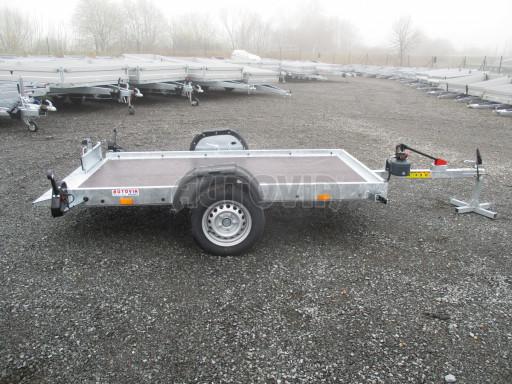 Jednoosý nebrzděný hydraulicky sklopný přívěs HS 750kg N1 2,55x1,26/0,10 ruč ECO č.15