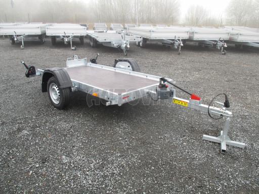 Jednoosý nebrzděný hydraulicky sklopný přívěs HS 750kg N1 2,55x1,26/0,10 ruč ECO č.16