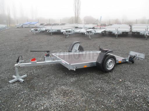 Jednoosý nebrzděný hydraulicky sklopný přívěs HS 750kg N1 2,55x1,26/0,10 ruč ECO č.7