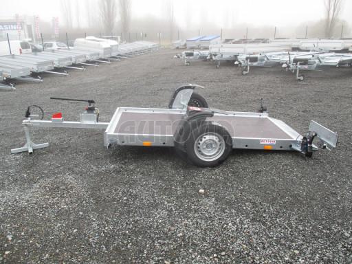 Jednoosý nebrzděný hydraulicky sklopný přívěs HS 750kg N1 2,55x1,26/0,10 ruč ECO č.20