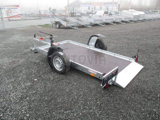 Jednoosý nebrzděný hydraulicky sklopný přívěs HS 750kg N1 2,55x1,26/0,10 ruč ECO č.21