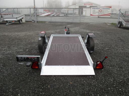 Jednoosý nebrzděný hydraulicky sklopný přívěs HS 750kg N1 2,55x1,26/0,10 ruč ECO č.8