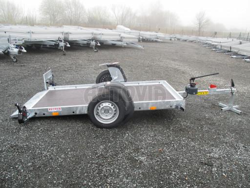 Jednoosý nebrzděný hydraulicky sklopný přívěs HS 750kg N1 2,55x1,26/0,10 ruč ECO č.22