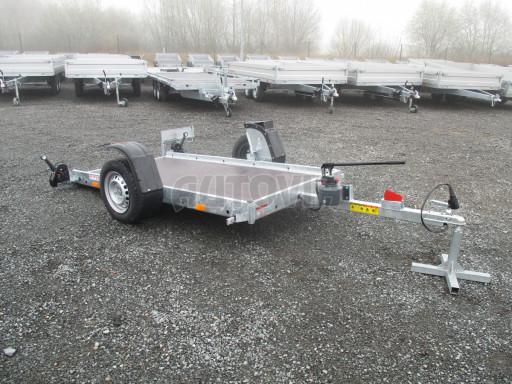Jednoosý nebrzděný hydraulicky sklopný přívěs HS 750kg N1 2,55x1,26/0,10 ruč ECO č.23