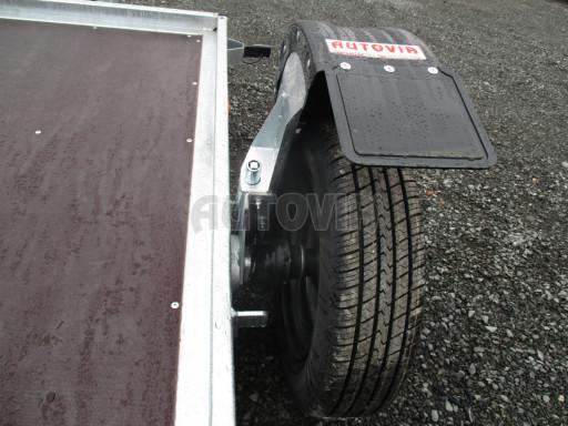 Jednoosý nebrzděný hydraulicky sklopný přívěs HS 750kg N1 2,55x1,26/0,10 ruč ECO č.24