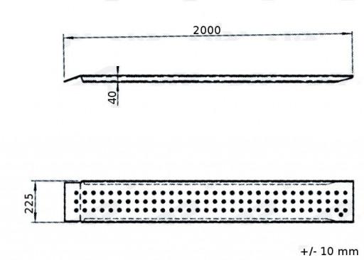 Alu nájezd 200 cm (400kg na pár) č.2