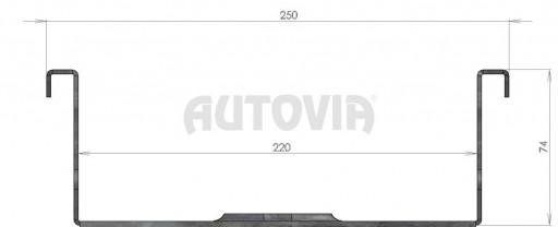 Nájezd pro motocykl 2070/220mm (300kg) č.3