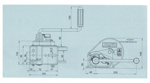 Naviják AL-KO 450 basic (compact) č.3