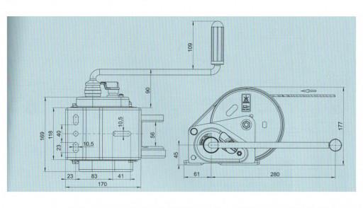 Naviják AL-KO 900 basic (compact) s odním. klikou č.2