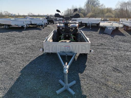 Sklopný přívěsný vozík za osobní auto HD 27 skl 2,06x1,25/0,30 č.18
