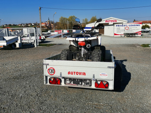 Sklopný přívěsný vozík za osobní auto HD 27 skl 2,06x1,25/0,30 č.22