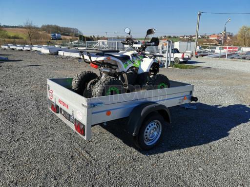 Sklopný přívěsný vozík za osobní auto HD 27 skl 2,06x1,25/0,30 č.23