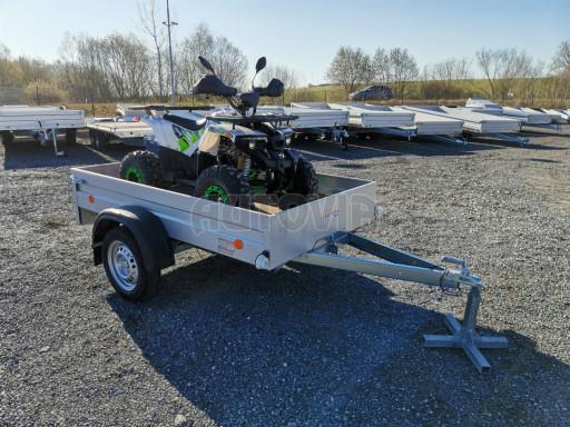 Sklopný přívěsný vozík za osobní auto HD 27 skl 2,06x1,25/0,30 č.25