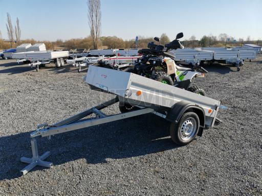 Sklopný přívěsný vozík za osobní auto HD 27 skl 2,06x1,25/0,30 č.27