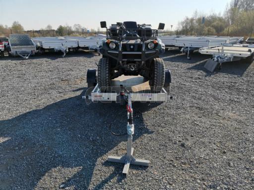 Jednoosý nebrzděný hydraulicky sklopný přívěs HS 750kg N1 2,55x1,26/0,10 ruč ECO č.25