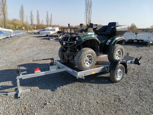 Jednoosý nebrzděný hydraulicky sklopný přívěs HS 750kg N1 2,55x1,26/0,10 ruč ECO č.26