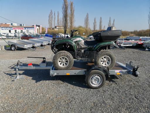 Jednoosý nebrzděný hydraulicky sklopný přívěs HS 750kg N1 2,55x1,26/0,10 ruč ECO č.27