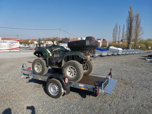 Jednoosý nebrzděný hydraulicky sklopný přívěs HS 750kg N1 2,55x1,26/0,10 ruč ECO č.28