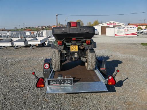Jednoosý nebrzděný hydraulicky sklopný přívěs HS 750kg N1 2,55x1,26/0,10 ruč ECO č.29