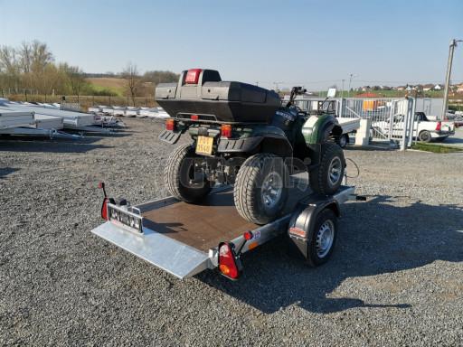 Jednoosý nebrzděný hydraulicky sklopný přívěs HS 750kg N1 2,55x1,26/0,10 ruč ECO č.30