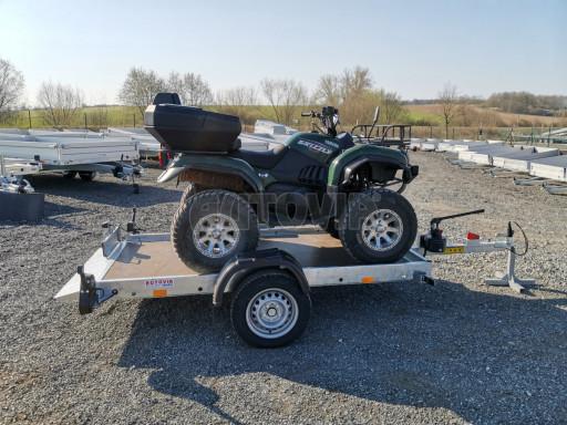 Jednoosý nebrzděný hydraulicky sklopný přívěs HS 750kg N1 2,55x1,26/0,10 ruč ECO č.31