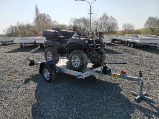 Jednoosý nebrzděný hydraulicky sklopný přívěs HS 750kg N1 2,55x1,26/0,10 ruč ECO č.32